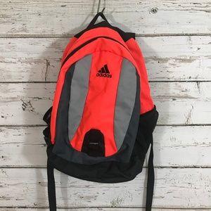 Orange and black Adidas Backpack.